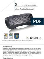Wireless Keyboard FK 760 Manual