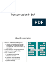 transportation in sap