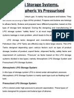 LPG Storage Systems, Atmospheric vs Pressurised
