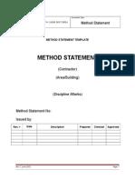 RC Method Statement Template