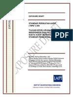 ED SPA 200 - Tujuan Keseluruhan Auditor Independen Dan Pelaksanaan Suatu Audit Berdasarkan SPA