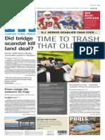 Asbury Park Press front page Monday, Sept. 15 2014
