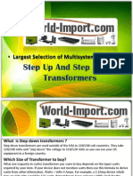 Step Up And Step Down Transformers at World-Import.com