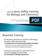 Laboratory Safety for Chemistry and Biology Updated Aug 2014