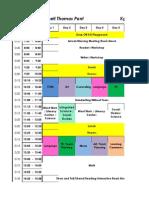 5A Schedule 2014-15