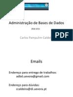 Administracao de Bases de Dados