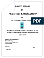 Project Report on Employee Satisfaction