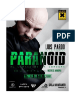 Dosier de Prensa de PARANOID. Espectáculo del Mentalista LUIS PARDO
