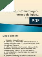 Cabinetul stomatologic- norme de igiena.ppt