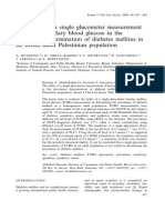 The Utility of a Single Glucometer Measurement of Fasting Capillary Blood Glucose in the Prevalence Determination of Diabetes Mellitus in an Urban Adult Palestinian Population