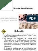 Riesgo y Tasa de Rendimiento PPT