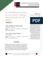 Icono14. Nº13.  La Comunicación Social de los Nuevos Canales Audiovisuales en Internet (WebTv)