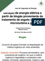 Geração de Energia Elétrica a Partir de Biogás Proveniente Do Tratamento de Esgoto Utilizando Microturbina a Gás