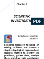 2. Scientific Investigation