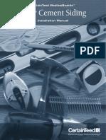 Fiber Cement Sidings Installation Manual