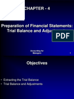 Trial Balance and Adjustments