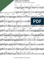 Abraço Eterno - Gravçaão Pe Fábio de Melo-partitura e Cifras