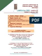 LAMPEA-Doc 2009 – numéro 42 / Vendredi 11 décembre 2009