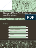 "Examining ""Borrowed Theory"" in Original vs. New Disciplines via Text Mining"