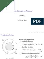 Infinite Elements in Acoustics