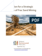 Petition for a Strategic  Analysis of Frac Sand Mining
