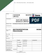 Instrument Work Procedure