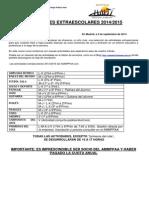 Carta Extraescolares 2014_2015