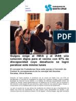 Guigou exige al IMAS y al IASS una solución digna para el vecino con 67% de discapacidad cuyo desahucio se logró paralizar este mismo lunes.doc