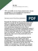 Obama's Untruth, Inc.