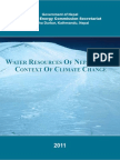 Water Recource Climate Change