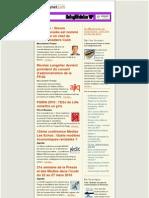 Essentiel de la presse et des relations presse du 11 décembre 2009