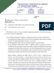 Letter on Safety Officer