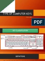 Type of Computer Keys