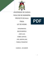 Universidad de Cuenca Fisica Ley de Hooke