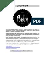 LiveForum Cartella Stampa