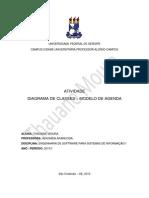 DIAGRAMA DE CLASSES – MODELO DE AGENDA