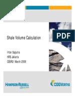 Shale Volume Calculation