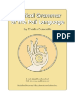 A Grammar of the Pali Language — Chas Durioselle