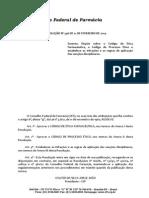 Código de Ética Farmacêutico RDC 546-14