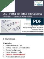 CSS 05 Tabelas Formularios
