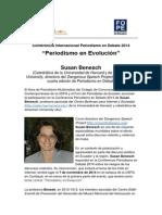 Susan Benesch expondrá sobre discurso violento en Conferencia Periodismo en Debate 2014
