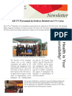 UN Cares Orientation Sessions Newsletter - Eritrea