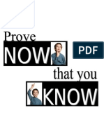 Poster- Prove You know!