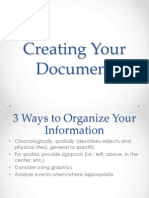 creating your document 2