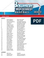 FINAL 2014 Bowman Chrome Baseball Checklist