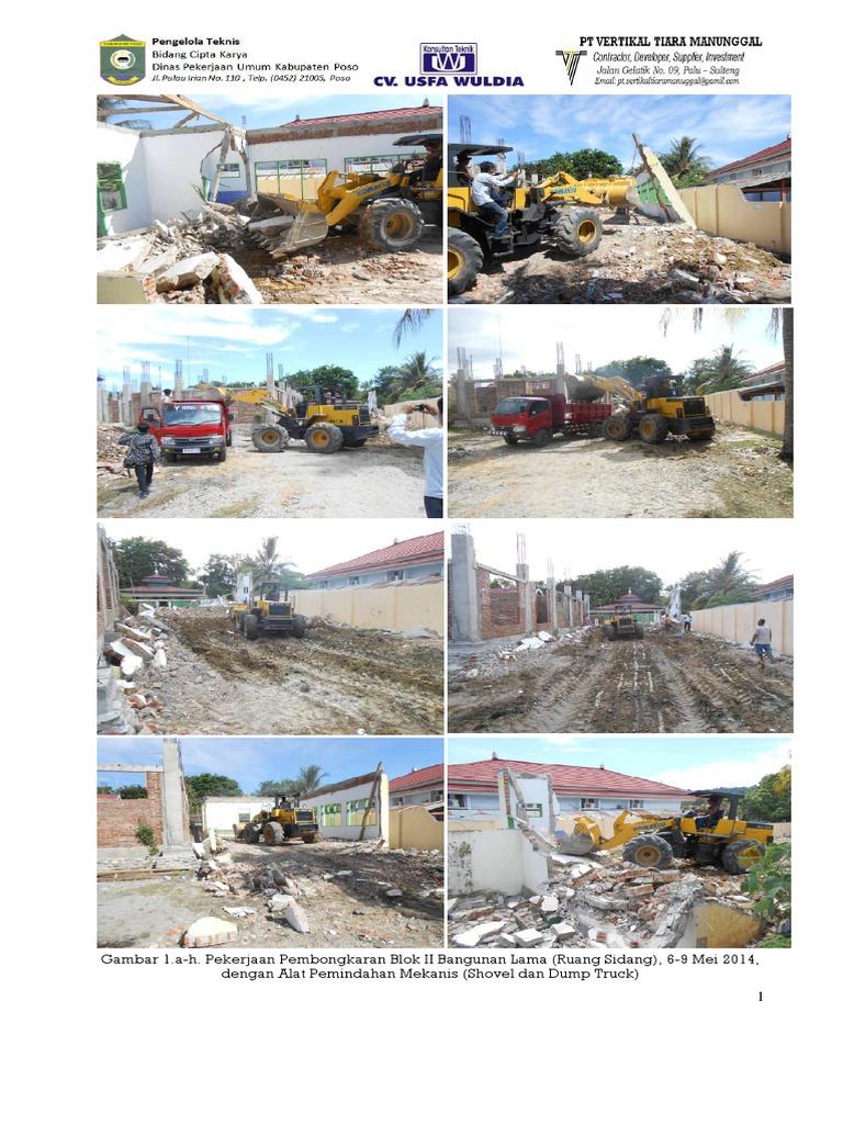 Laporan Dokumentasi Proyek Pembangunan Gedung Pa Poso 2014