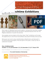PopUp Lunchtime Exhibitions Series | The Magnes 2014