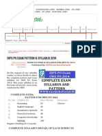 Ibps Po Exam Pattern & Syllabus 2014