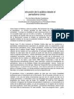 La construcción de lo público desde el periodismo cívico. Ana María Miralles