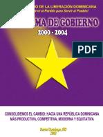 Programa de Gobierno 2000-2004